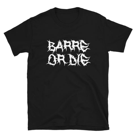 Barre or Die Custom Tee - Black