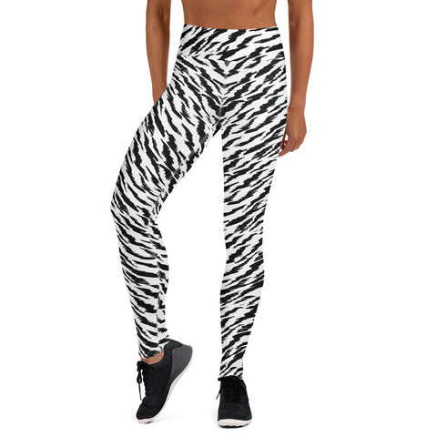 WHITE TIGER LIGHTNING CUSTOM LEGGINGS