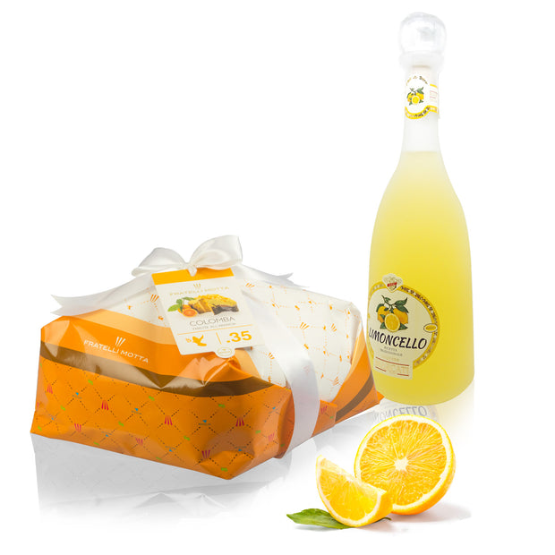 Orange Easter Dove & Limoncello Liqueur - Dolceterra UK