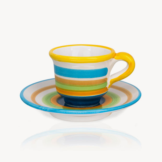 """Colored"" - Hand-painted Coffee Cup Memoritaly"