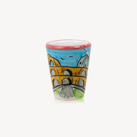 Memoritaly Roma Handmade Painted Glasses (2 pcs)