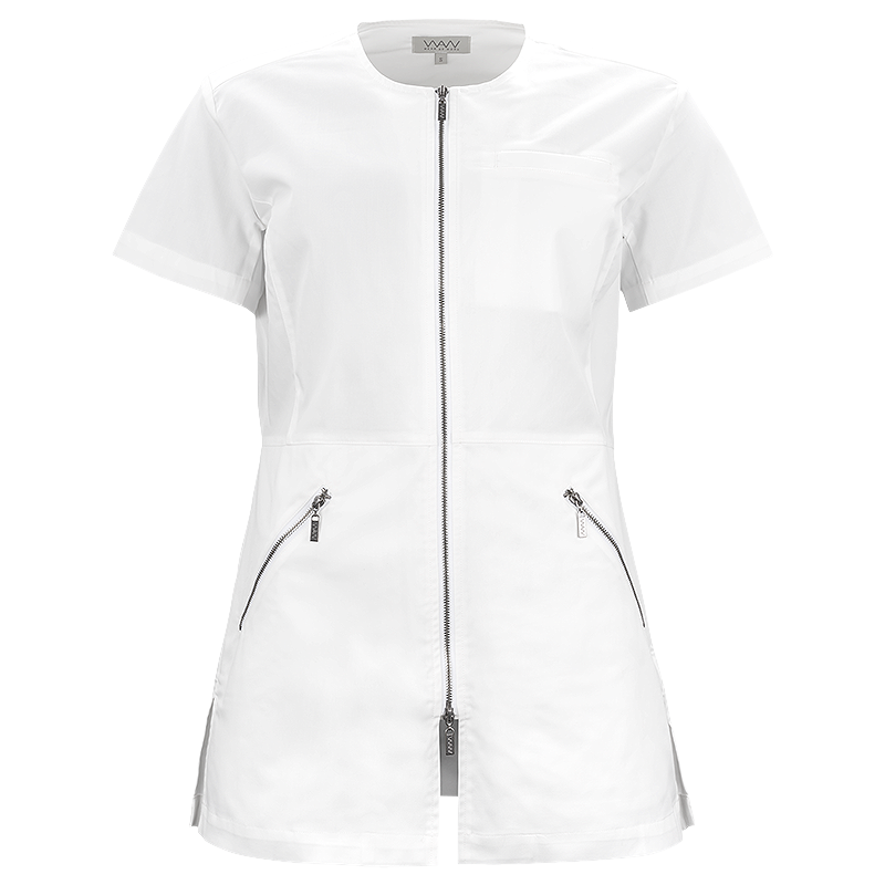 W031 | LADIES LEAH U ZIP TOP SS