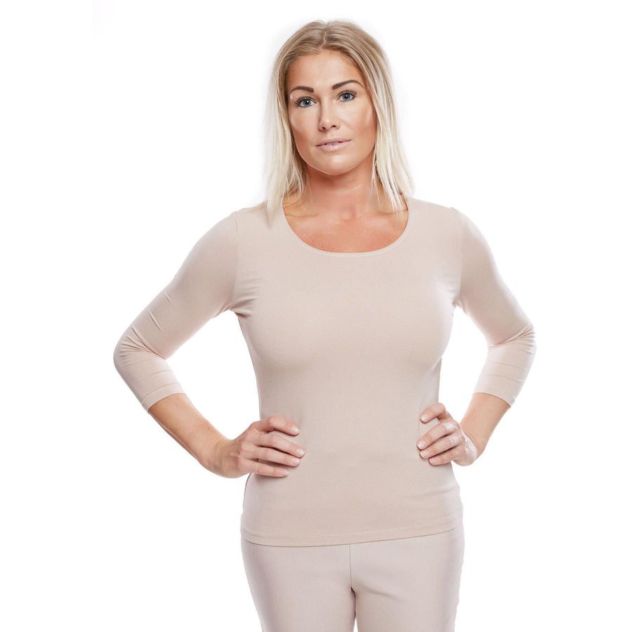 W10 LADIES SOFT 3/4-SLEEVE