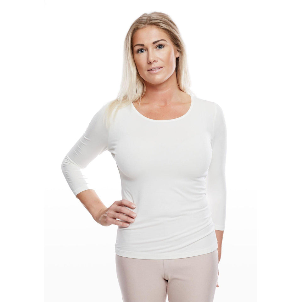 W010 LADIES SOFT 3/4-SLEEVE-Workwear Restyle