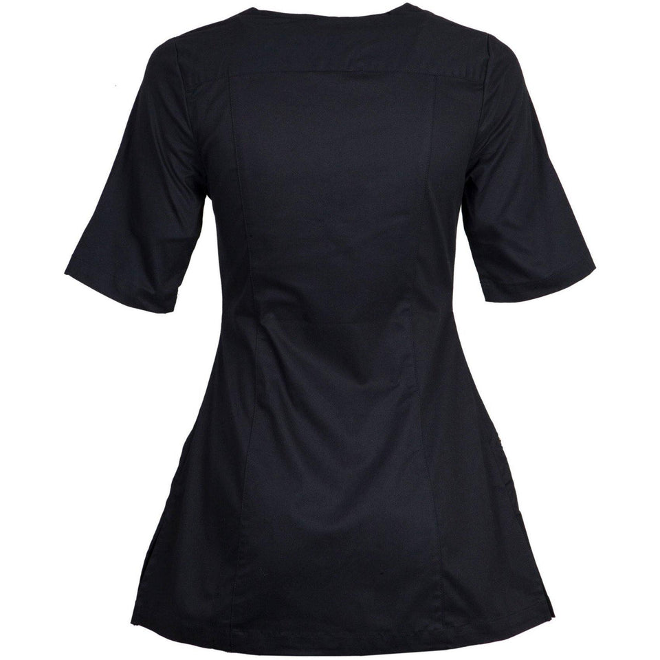W4 V-NECK ZIP TOP HALF-SLEEVE-Workwear Restyle