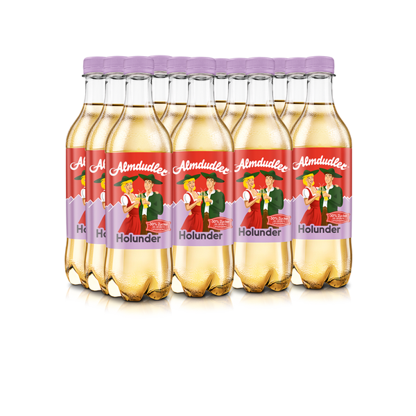 12 x 500ml Almdudler with elder
