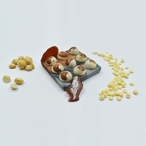 Bombones de White Chocolate & Macadamia Nuts 9pz
