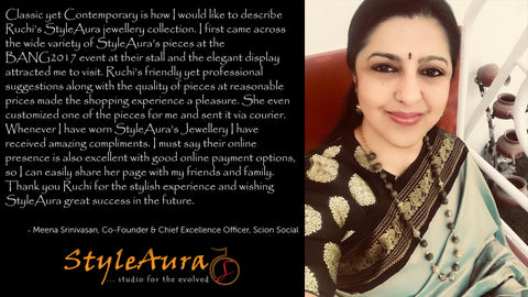 StyleAura Happy Customer - Meena Srinivasan