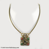Delicate Copper Hasli with a Semi Precious stone studded pendant 1