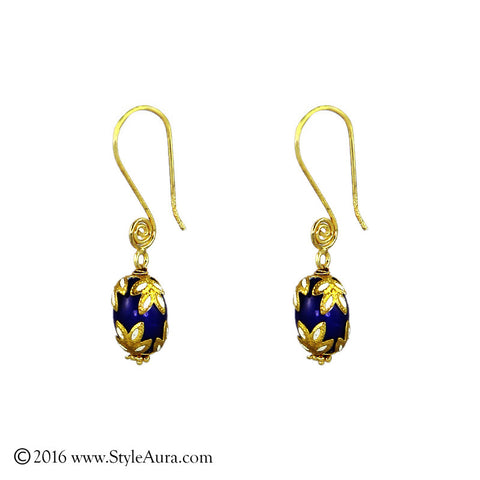 Meenakari Purple Agate Earring