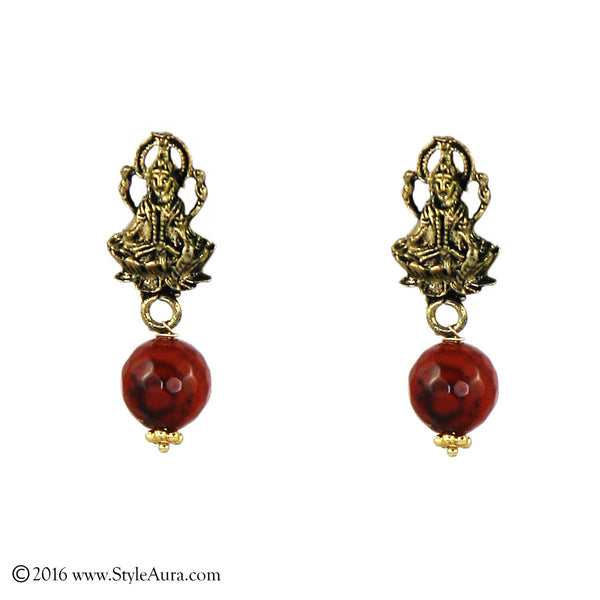 Lakshmi Brown Onyx Earring