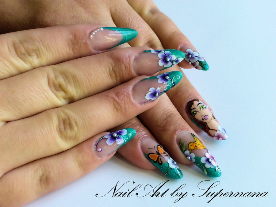 One Stroke Nail Art Indigo Nails Canada