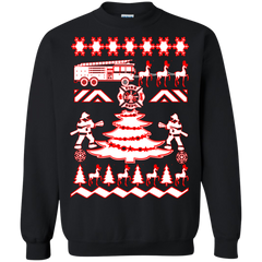 Firefighter - Printed Crewneck Pullover Sweatshirt  8 oz