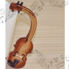 Violin Notes Pattern Ceramic Mugs for Coffee & Tea
