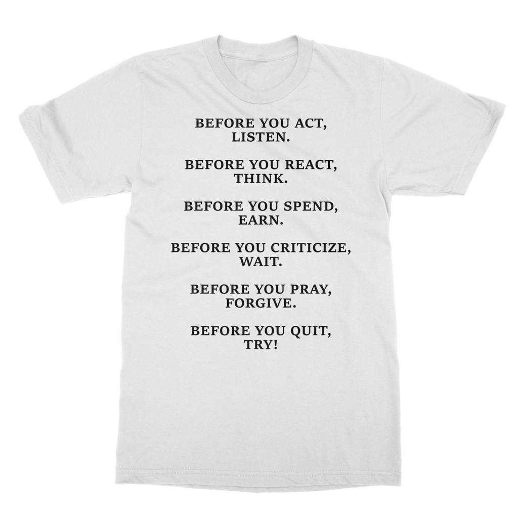 DON'T QUIT QUOTE 2 Softstyle Ringspun T-Shirt