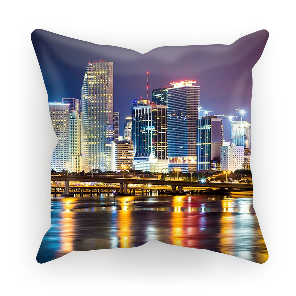 Miami Skyline Cushion