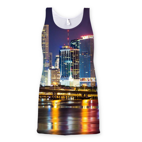 Miami Skyline Sublimation Vest