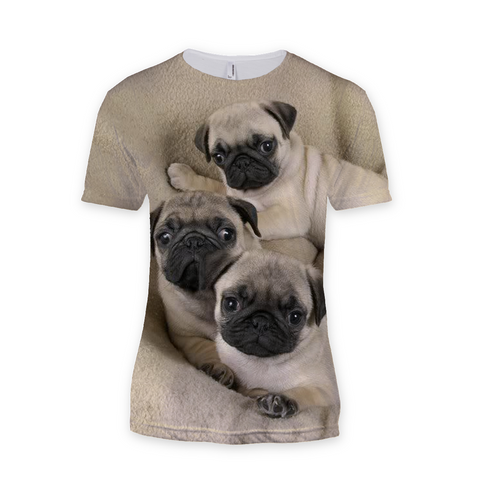 Cute Pugs Sublimation T-Shirt