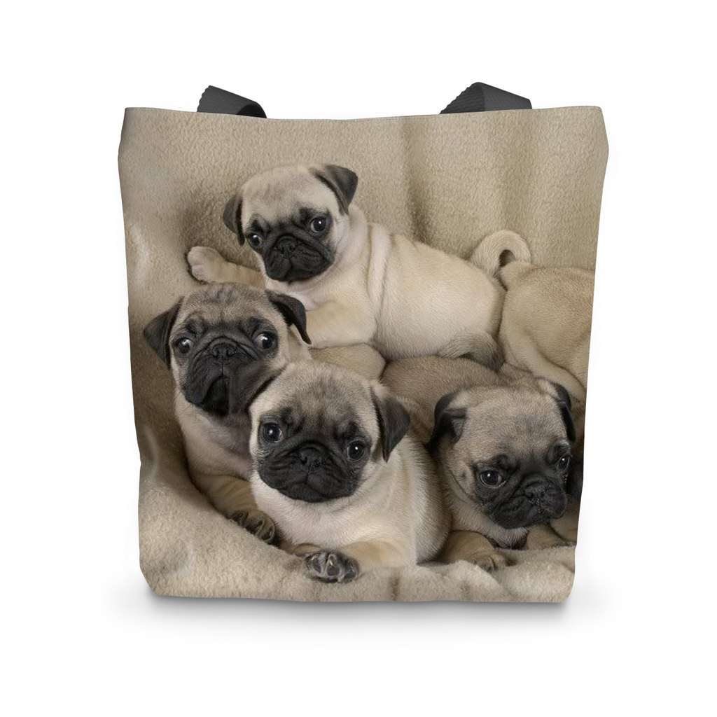 Cute Pugs Tote Bag