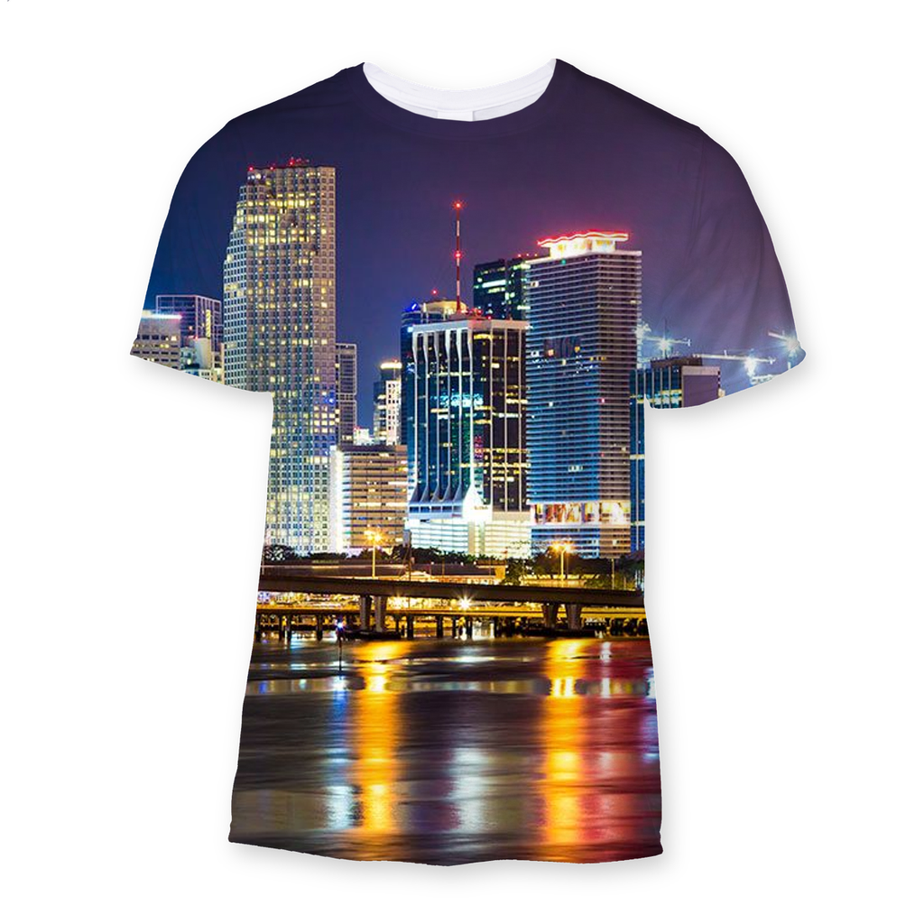 Miami Skyline Sublimation T-Shirt