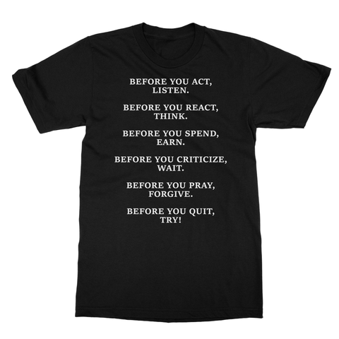 DON'T QUIT QUOTE 1 Softstyle Ringspun T-Shirt