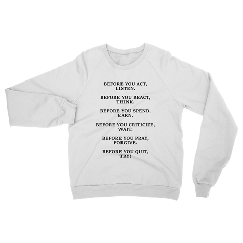 DON'T QUIT QUOTE 2 Heavy Blend Crew Neck Sweatshirt