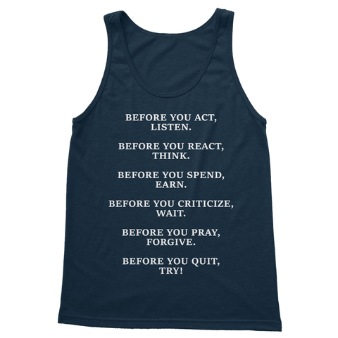 DON'T QUIT QUOTE 1 Softstyle Tank Top