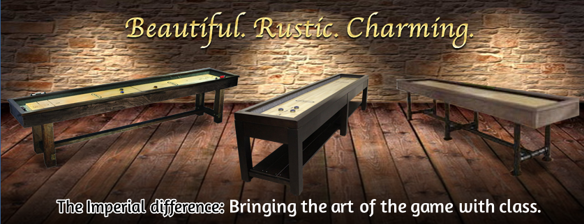 The Imperial Reno Rustic 12u0027 Shuffleboard Table Features: