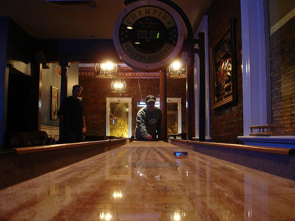 A well maintained Shuffleboard Table in a pub