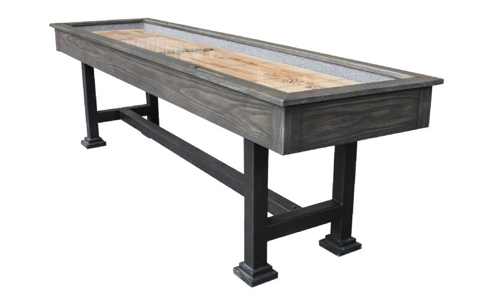 "Rustic Retro Berner ""The Urban"" 9' Shuffleboard Table in Midnight"