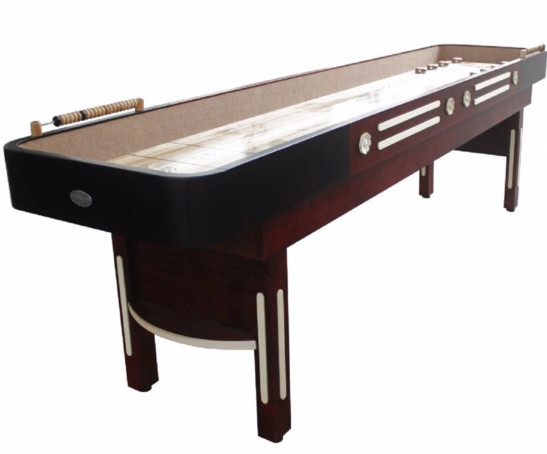 "Berner ""The Premier"" 12' Shuffleboard Table in Mahogany"