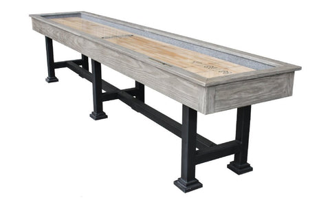 "Berner ""The Urban"" 12' Shuffleboard Table in Silver Mist"