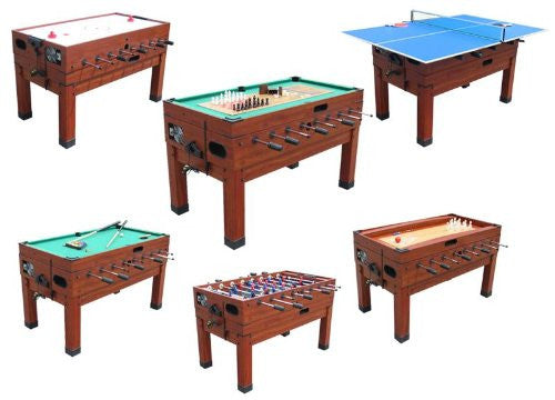 Berner 13 In 1 Combination Game Table In Cherry Shuffleboard Planet