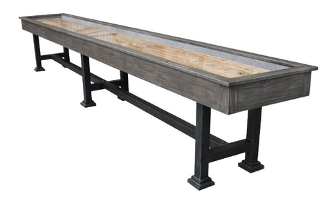 "Rustic Retro Berner ""The Urban"" 16' Shuffleboard Table in Midnight"