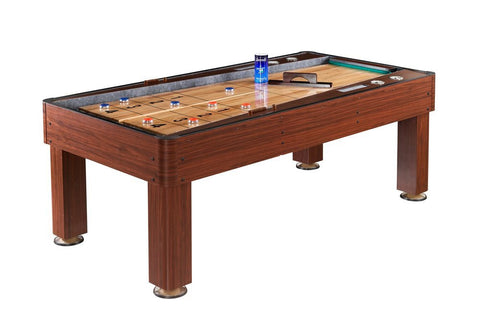Rebound Carmelli Ricochet 7' Shuffleboard Table in Cherry Finish
