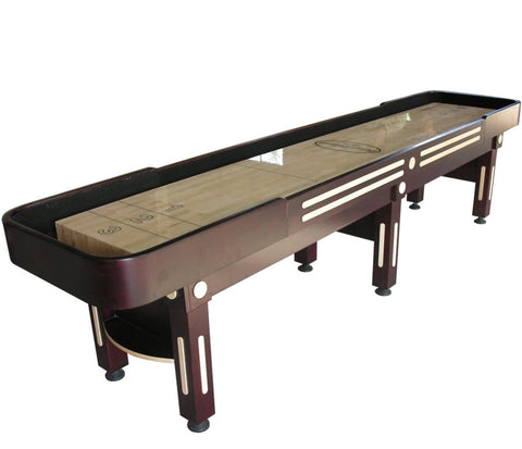 "Berner ""The Majestic"" 12' Shuffleboard Table in Mahogany"