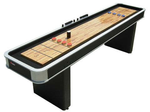 Modern Black Atomic 9' Platinum Shuffleboard Table