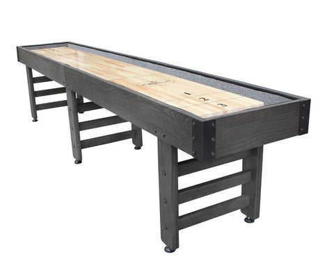 Retro Playcraft 12' Saybrook Shuffleboard Table in Weathered Midnight
