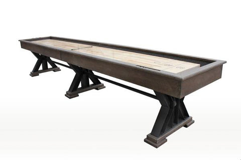 "Rustic Retro Berner 18' ""The Weathered"" Shuffleboard Table in Desert Sand"