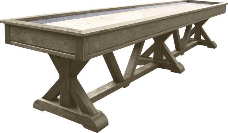 Playcraft Brazos River 14' Pro-Style Shuffleboard Table in Weathered Gray