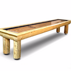 Rustic Hudson Ponderosa Shuffleboard Table 9'-22' with Custom Stain Options
