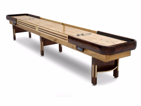 Grand Hudson Deluxe Shuffleboard Table 9'-22' with Custom Stain Options