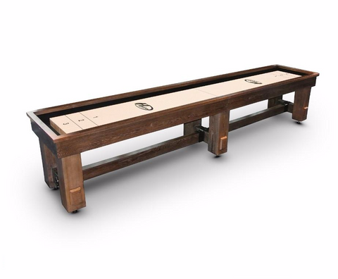 Rustic Hudson Sedona Limited Shuffleboard Table 9'-22' w/Custom Stain Options