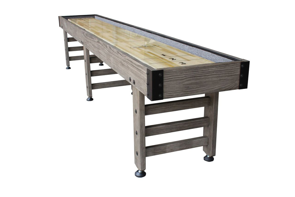 Retro Playcraft 16' Saybrook Shuffleboard Table in Weathered Smoke