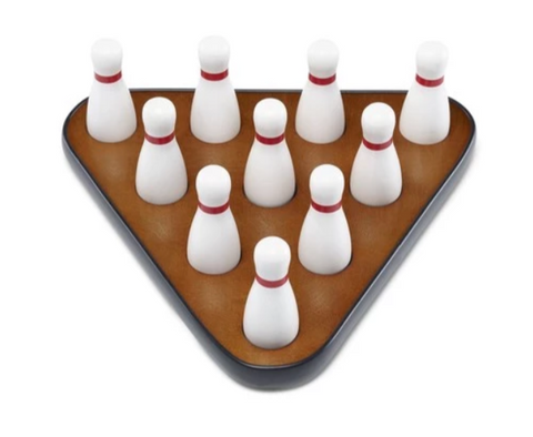 Playcraft Bowling Pins for Shuffleboard Table Including carrying bag