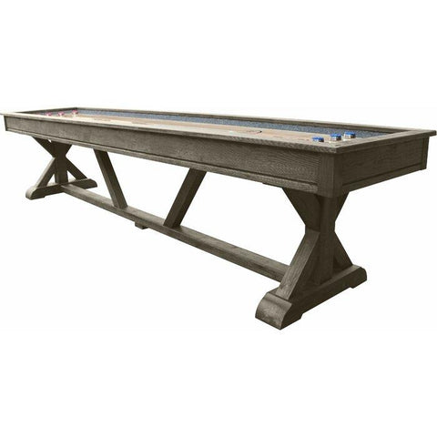 Playcraft Brazos River 12' Pro-Style Shuffleboard Table in Weathered Gray