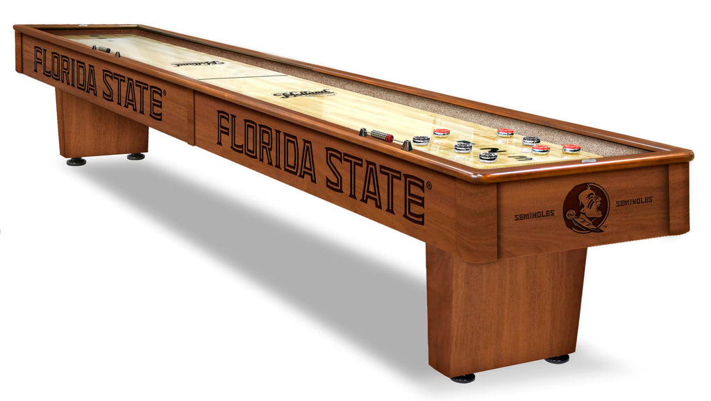 College Holland Bar Stool Florida State 12' Shuffleboard Table
