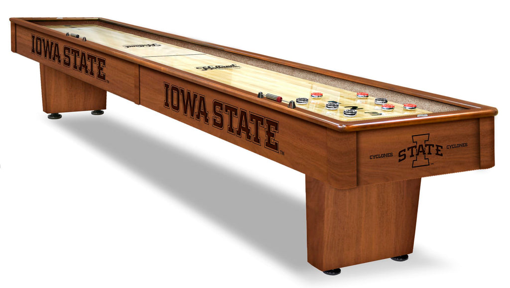 College Holland Bar Stool Iowa State 12' Shuffleboard Table