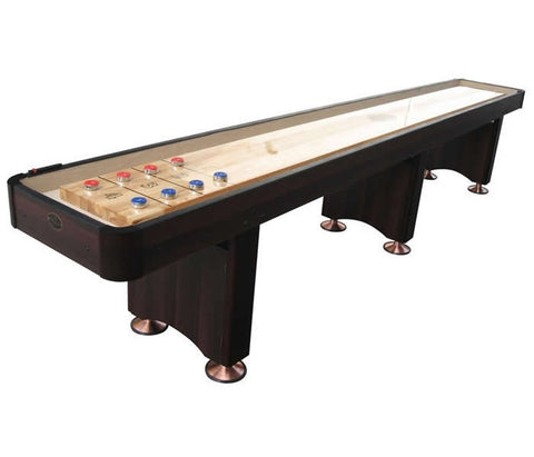 Standard Playcraft Woodbridge 14' Shuffleboard Table in Espresso