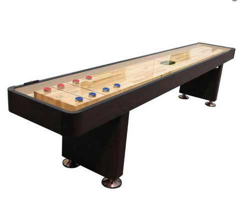 "Berner ""The Standard"" 12' Shuffleboard Table In Espresso"
